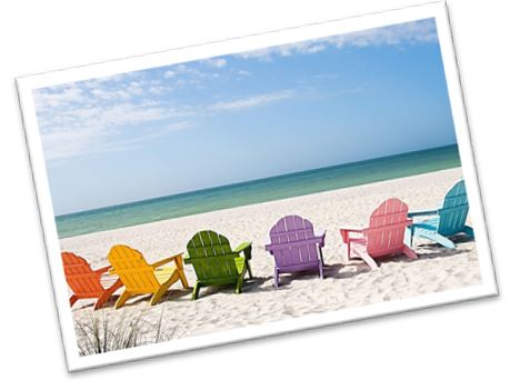 image: chairs on a beach