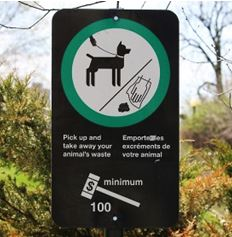 Park Notice - Pick Up After Your Dog